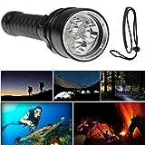 Koly 5000 lúmenes 3x XML T6 LED buceo impermeable (Underwater 100 metros) Linterna antorcha lámpara