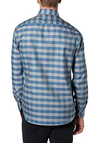 Eterna Long Sleeve Shirt Modern Fit Oxford Checked menta/talpa