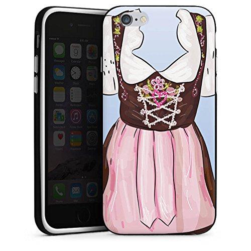 Apple iPhone X Silikon Hülle Case Schutzhülle Oktoberfest Muster Dirndl Silikon Case schwarz / weiß