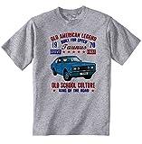 Teesandengines Men's FORD TAUNUS 1970 Grey T-Shirt Size Large