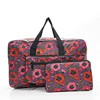 Faye UK Ltd. Eco-Chic Foldable Travel Bag Cabin Approved Lightweight Purple Poppies