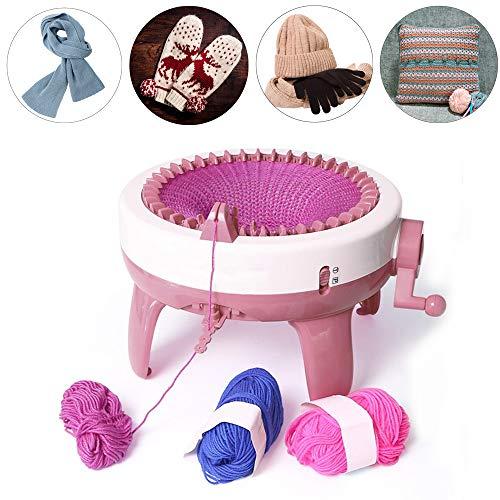 Pssopp Strickmaschine, 40 Nadeln Hand Strickmaschine Manuelle Automatische Webstuhl Kit Kinder Weben Spielzeug Mit Häkelnadeln Thread