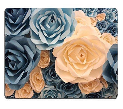 luxlady Mousepads eine Dekoration Handarbeit Künstliche Papier Blumen Hintergrund Bild 37492641Individuelle Art Desktop Laptop Gaming Mauspad
