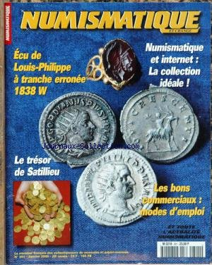 NUMISMATIQUE ET CHANGE [No 301] du 01/01/2000 - ECUE DE LOUIS-PHILIPPE A TRANCHE ERRONEE 1838 W - LA COLLECTION IDEALE - INTERNET - LE TRESOR DE SATILLIEU - LES BONS COMMERCIAUX - MODES D'EMPLOI.