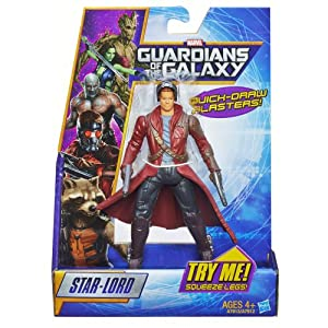 Marvel Guardians of the Galaxy - Star Lord 6 Inch Action Figure with Quick Draw Blasters - Peter Quill