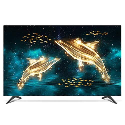 Monitor Hülle Polyesterbezug Staubdichtes, antistatisches LCD- / LED- / HD-Display-Schutzgehäuse Kompatibel mit Curved-TV, Desktop-TV und Hänge-TV-65Zoll-A