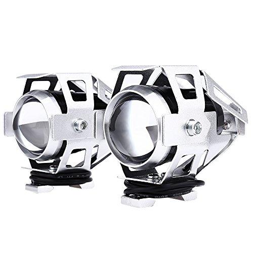 Preisvergleich Produktbild DAMAIFENG 2 PCS 125 W 1500 LM U5 Motorradscheinwerfer LED Super Hell 12 V LED Spotlight Motorrad Fahrlicht Nebel Wasserdicht Langlebig Projektor für Auto / Piste / Motorrad Ein / Ausschalten silber
