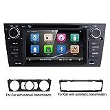 HIZPO Autoradio Multimedia Player für BMW E 90E91E92mit GPS Navi unterstützt Bluetooth Subwoofer USB microSD 17,8cm