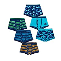 4 KIDZ Childrens Kids Boys Elasticated 3 Pack Multipack Cotton Boxer Trunks Underwear 3-Pack Sharks and Stripes 13