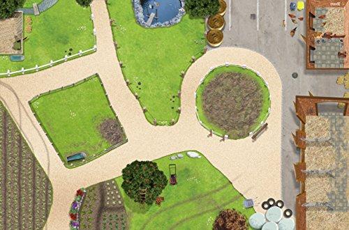 *Bauernhof / Reiterhof Spielmatte (Spielteppich) für das Kinderzimmer – SM01 – Maße: ca. 150 x 100 cm*