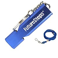 FUTURESTEPS Survival Whistle, Emergency Safety, Loud for Hiking, Storm, Camping, Boating, Dog Training with Lanyard - 120 Decibels - Blue Color - 36 Inch Lanyard