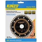 Kinzo 71761 Disque diamant sciage sec/humide turbo pour brique/ardoise/béton 115 mm