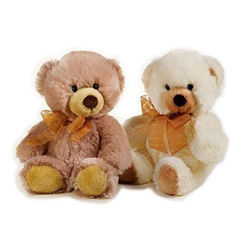 Lelly 24 cm Hugo Teddy Bear Peluche (Petit, Marron)