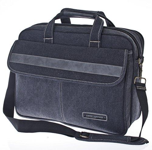 Custodia Laptop fino a 15,4pollici, Borsa per portatile, Borsa da Lavoro, Borsa a tracolla, a spalla, Uomo * speciale * multicolore Olive Hochformat nero