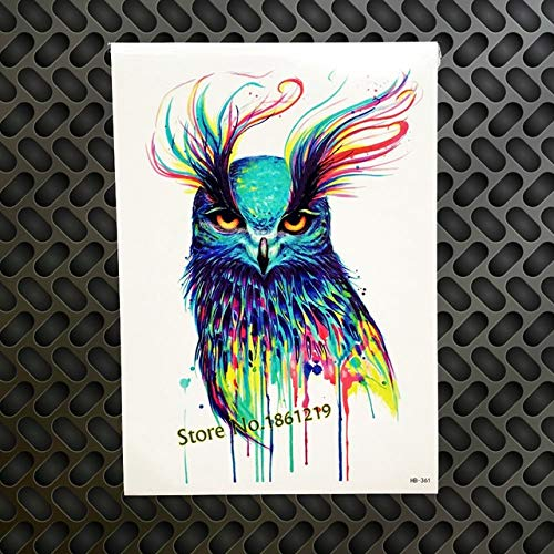 HXMAN 3pc Super Große 15 * 21cm Chinesische Böse Drache Design Temporäre Tattoos Für Männer Sexy Frauen Gqs-a049 Schwarz China Drachen Totem Tatoo - Bösen Drachen Kostüm