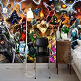 Avengers Photo Wallpaper Marvel Comics Wall Mural Custom 3d Wallpaper Children Bedroom Office Hotel School Room Decor Super Hero Largeur 400cm - Hauteur280cm un