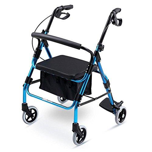 XINZ Andador Rollator para Ancianos Plegable Peso Máximo Soportado 150 Kg 86x62x86cm