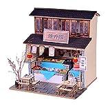 S_LLSL_ Casa de muñecas en Miniatura Hecha a Mano de Rompecabezas en 3D, casa de ensamblaje de Bricolaje Regalo Creativo para (Arquitectura Antigua China)
