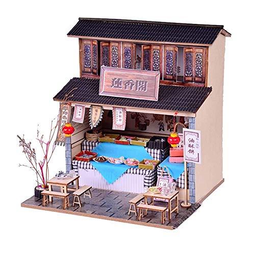 UNU_YAN Casa de muñecas en miniatura hecha a mano de...