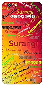 Surangi (Colourful) Name & Sign Printed All over customize & Personalized!! Protective back cover for your Smart Phone : Micromax Canvas Sliver 5 Q450