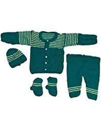 3f602f4b5a1 Cutiepie Collection Baby Boy s and Baby Girl s Handmade Woollen Kurta Pant  Set (Green