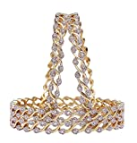 M CREATION American Diamond Gold Plated ...