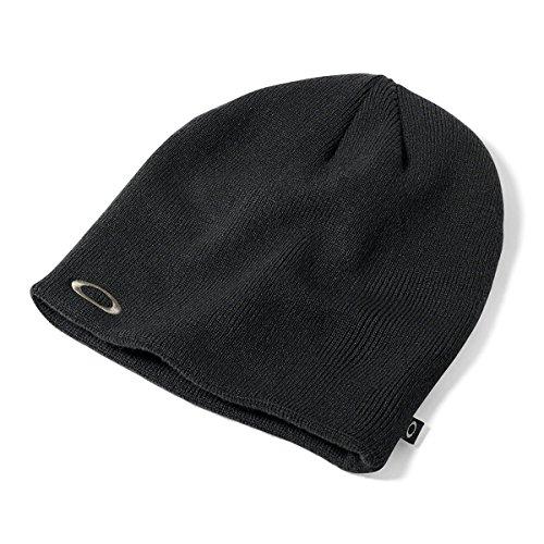 Oakley Fine Knit - Gorro de esquí para hombre, color negro, talla única