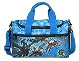 kleine Sporttasche mit Namen | inkl. NAMENSDRUCK | Motiv Dragons Drache in blau & schwarz |...