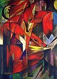 Kunstdruck auf Leinwand. der Fuchs. Bild von Franz Marc
