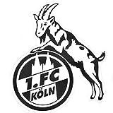 Unbekannt 1. FC Köln Aufkleber transparent schwarz - plus gratis Lesezeichen I love Köln