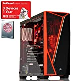 ADMI GAMING PC: AMD 2200G 3.7GHz Quad Core CPU / AMD Vega 8 Graphics / 8GB 2400MHz DDR4 RAM / 1TB Hard Drive / 500W PSU Bronze Rated / Corsair SPEC-04 Glass RED LED Gaming Case / Wifi / Windows 10 + Rocket League game