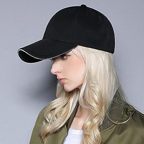 Dngy*L'autunno inverno riflettenti di sicurezza del cappello da baseball stile western solido bianco black hat , kaki