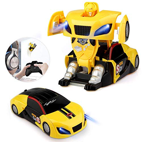 Baztoy Transform Roboter Ferngesteuertes Auto Spielzeug RC Car Fernbedienung (2 Personen Kostüm Kinder)