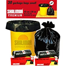 Shalimar Premium Garbage Bags (Small) Size 43 cm x 51 cm 6 Rolls (180 Bags) ( Black Colour )