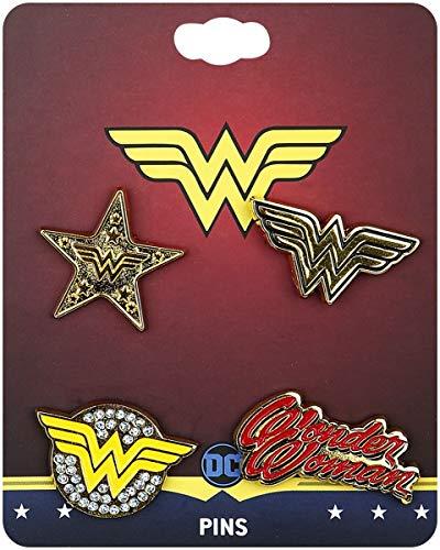 Wonder Woman Logos Lote de pins multicolor
