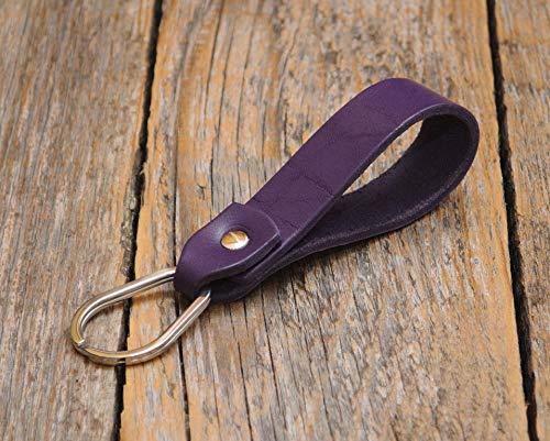 Lila Schlüsselband Leder Schlüsselanhänger Klammer Schlüssel Anhänger -