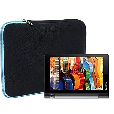 Slabo Tablet Case Cover for Lenovo Yoga Tab 3 (10 Zoll) / Lenovo Yoga Book Bag Protective Cover made of neoprene - TURQUOISE / BLACK