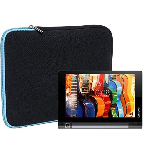 Slabo Tablet Tasche Schutzhülle für Lenovo Yoga Tab 3 (10 Zoll) / Lenovo Yoga Book Hülle Etui Case Phablet aus Neopren – TÜRKIS/SCHWARZ