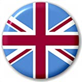 Claret Blue Union Jack Team Flag 25Mm Pin Button Badge Lapel Pin West Ham United