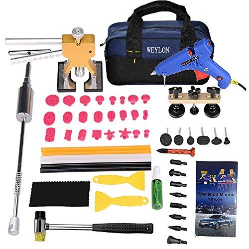 Weylon 58Pcs Auto Auto Körper Dent Removal Paintless Reparatur Werkzeug Kits Slide Hammer Kleber Gun Aufkleber