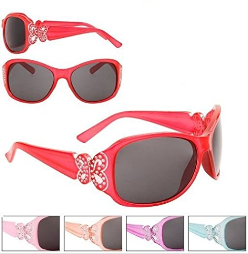 Rhinestone Butterfly Sunglasses Girls Childrens Kids Toddlers Pretty 100% UV Protection