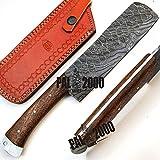 PAL 2000 9533 benutzerdefinierte handgemachte Damaskus Stahl Klinge Koch Küchenmesser mit Scheide Hausküche Garten Camping Werkzeug Sammlung Griff Angeln und andere Messer