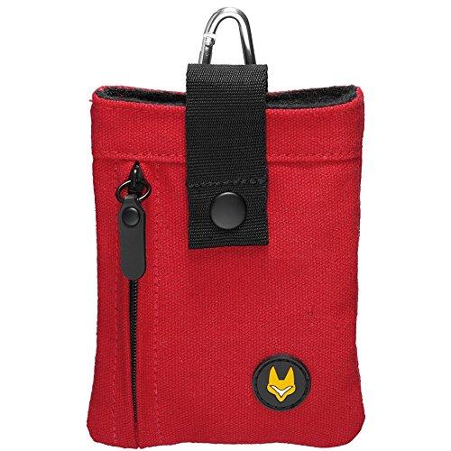 Galleria fotografica Difox Media Line-One-Borsa per fotocamera/MP3/Cellulari, colore: rosso