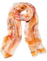 Aivtalk - Écharpe Satin Mode Léger Classique Longue Spécial Lavis - Foulard  Femme Soie Transparent Imprimé 389e2c82a80f