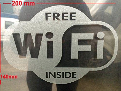 """Pegatina vinilo efecto grabado """"Wi-Fi free"""" interior"""
