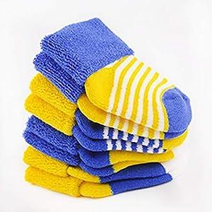 Decdeal 4 Pares Calcetines de Felpa para Niños Calcetines de Algodón para Bebés en Otoño e Invierno 11