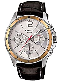 Casio Enticer Multi-Dial Men's White Watch - MTP-1374L-7AVDF (A835)