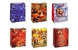 TSI 83318 Geschenkbeutel Weihnachten Serie 8, 12er Packung, Größe: Groß (32 x 26 x 13,5 cm)