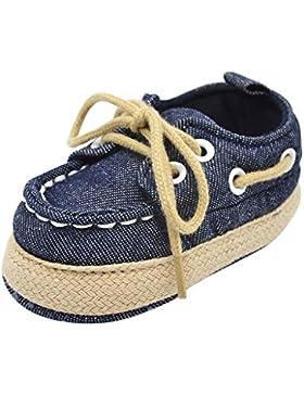 Baby Schuhe Lauflernschuhe Krabbelschuhe Kind Jungen Mädchen weiche alleinige Turnschuh Kleinkind Tie Schuhe Denim...
