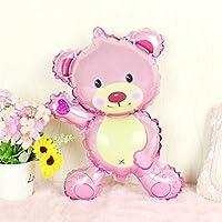 YUOKI 1 Pc Mini Lovely Bear Birthday Party Balloon New Cartoon Toy Balloon Decoration Gift for Kids Party Decor(16.93 10.63inchRed)